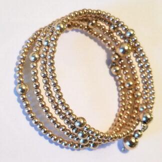 14K Gold-filled Beaded Wrap Bracelet