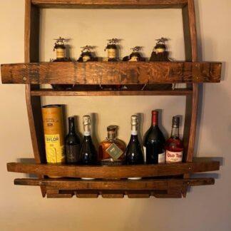 Barrel Stave Wine/Bourbon Rack