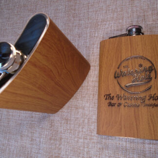 Personalized Wood Hip Flask
